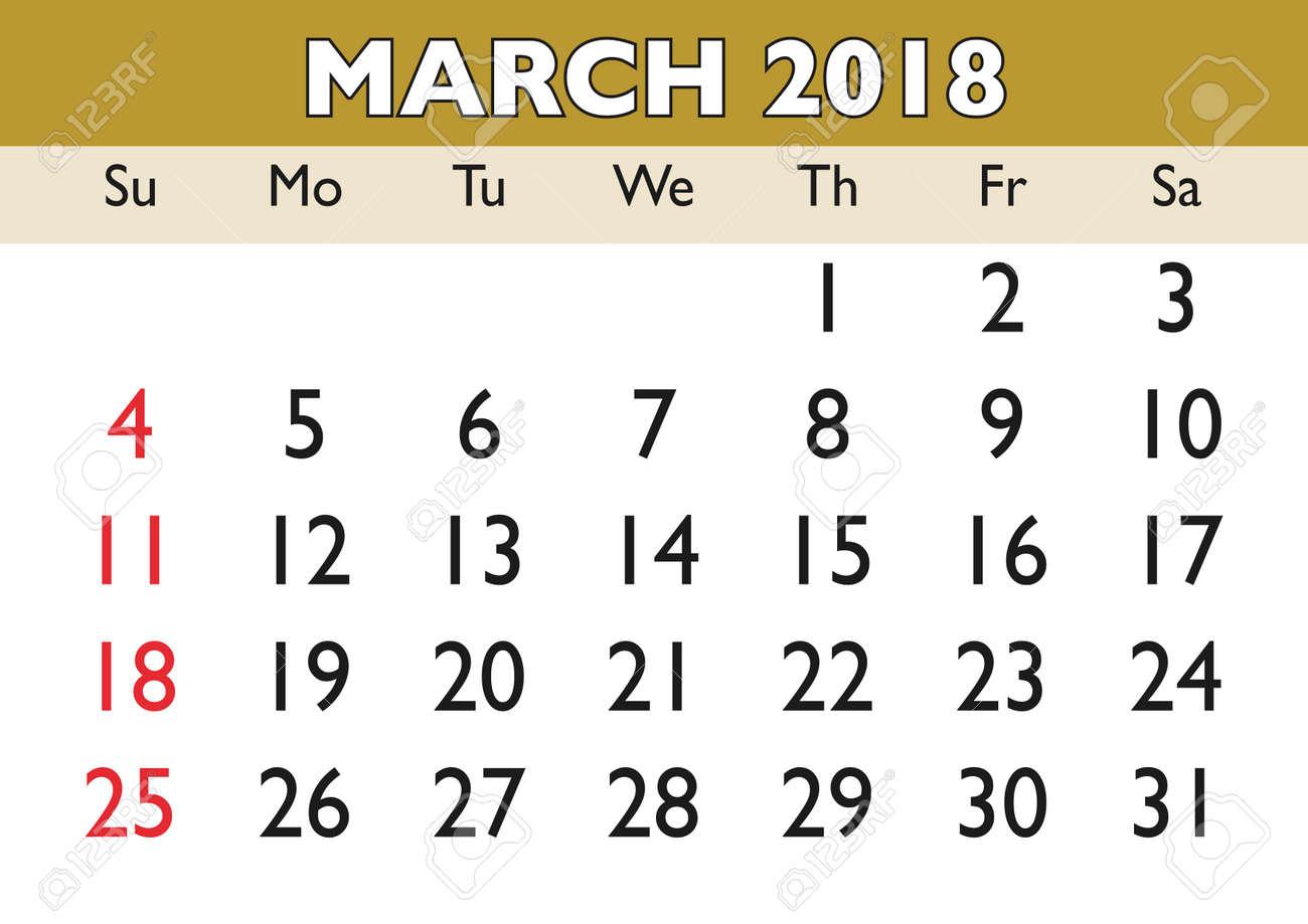 printable calendars march 2018