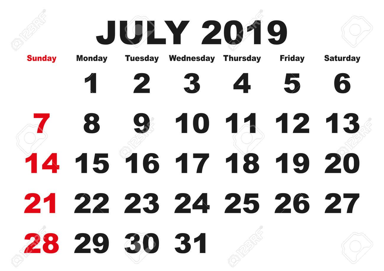 calendar for month of july - Monza berglauf-verband com