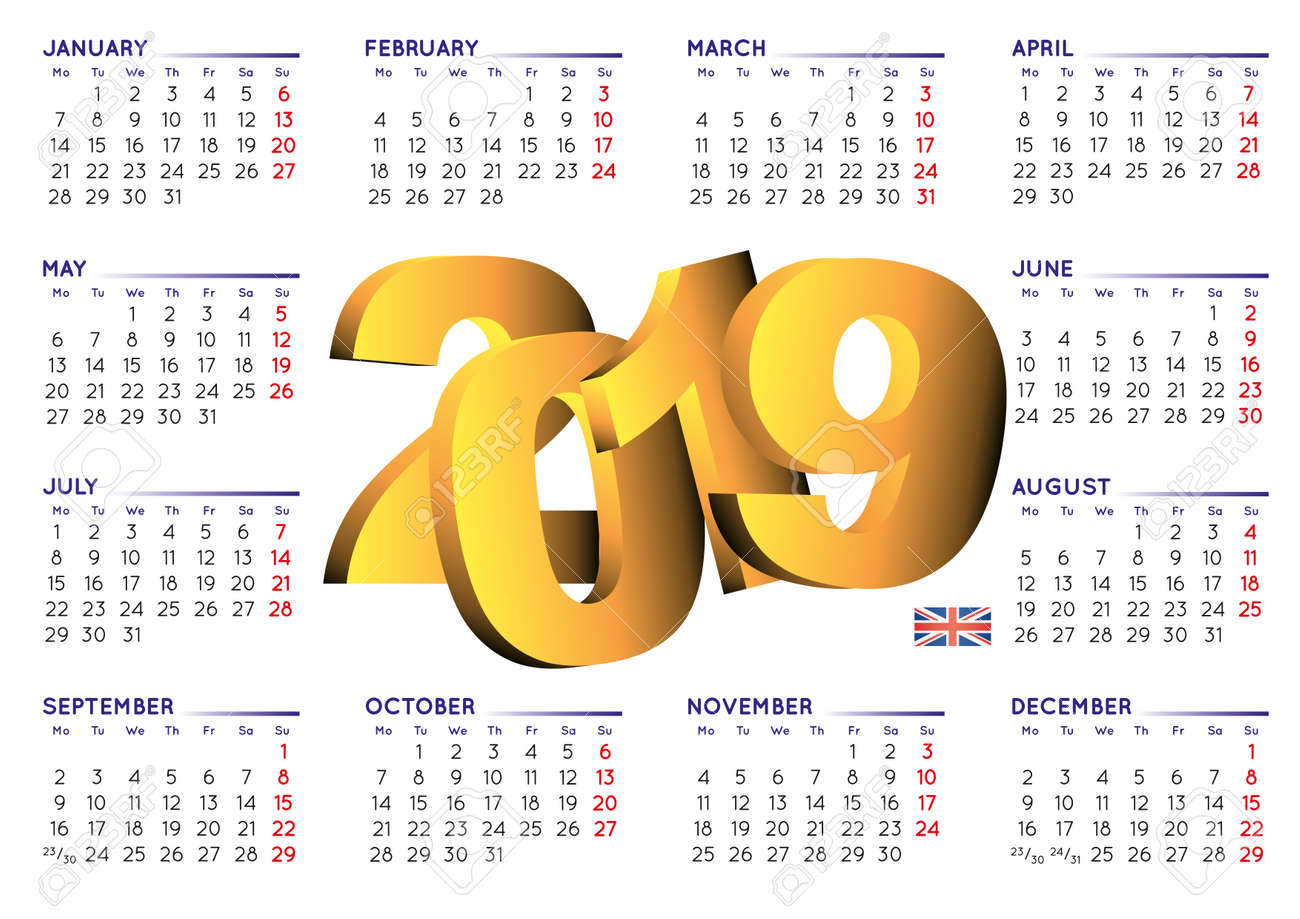 2019 calendar in english uk year 2019 calendar calendar 2019 week starts on
