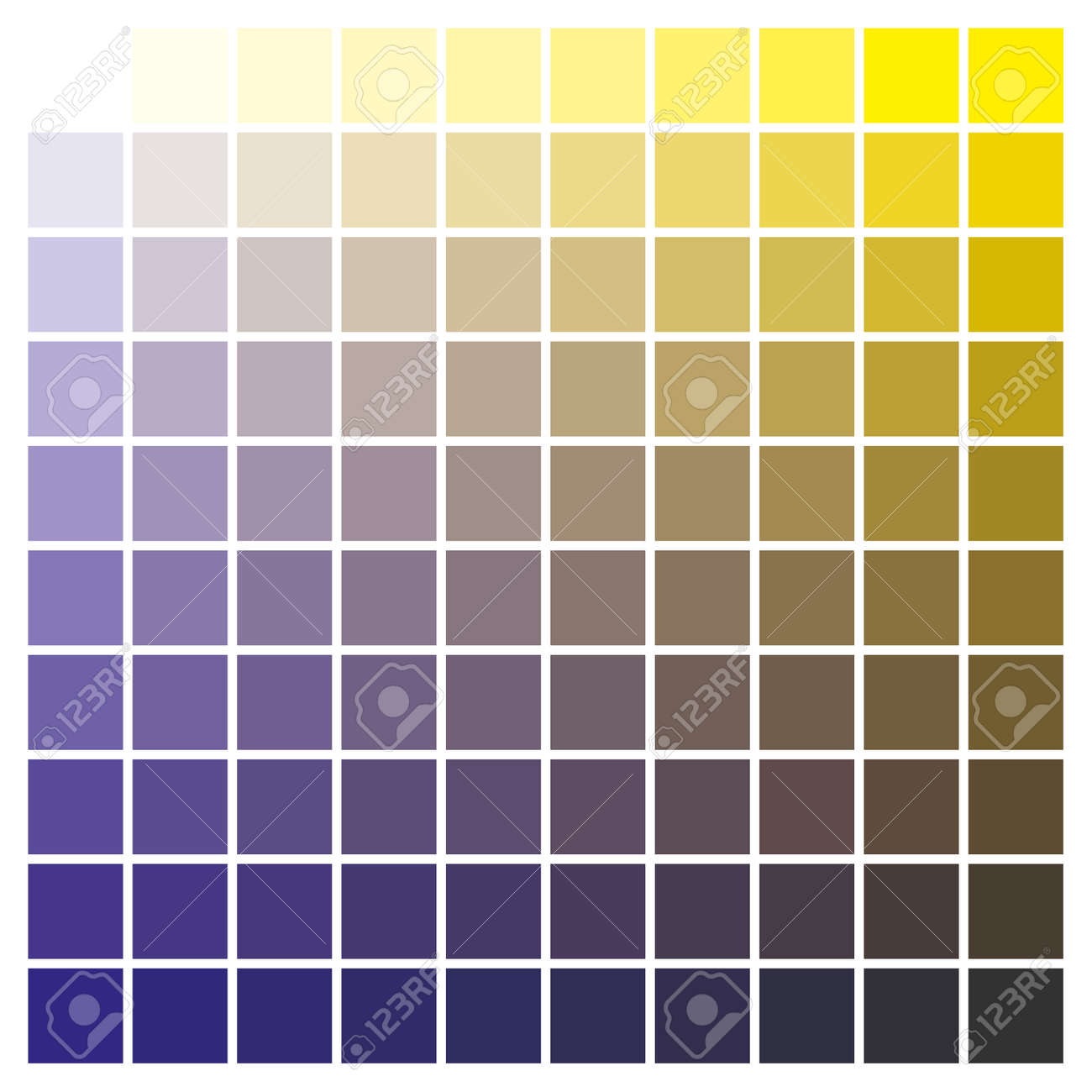 Cmyk Color Chart To Use In Prepress And Printing Used To Pick
