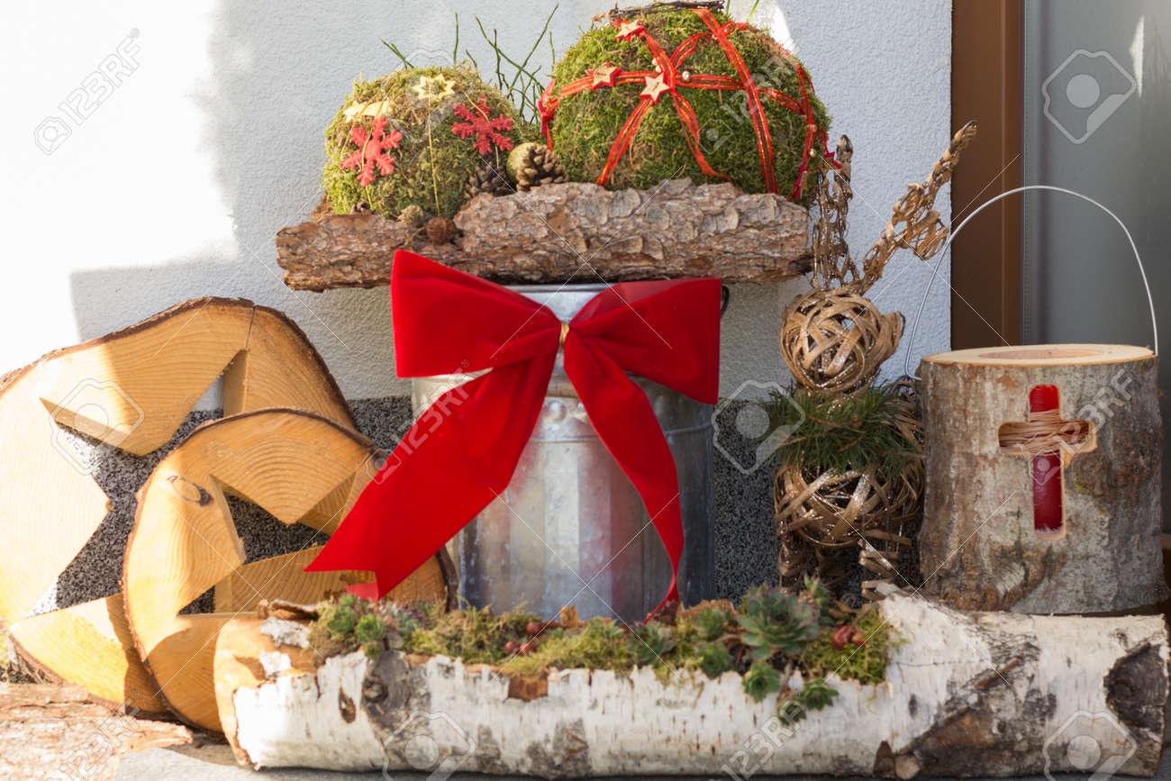 Außendekoration Weihnachten.Stock Photo