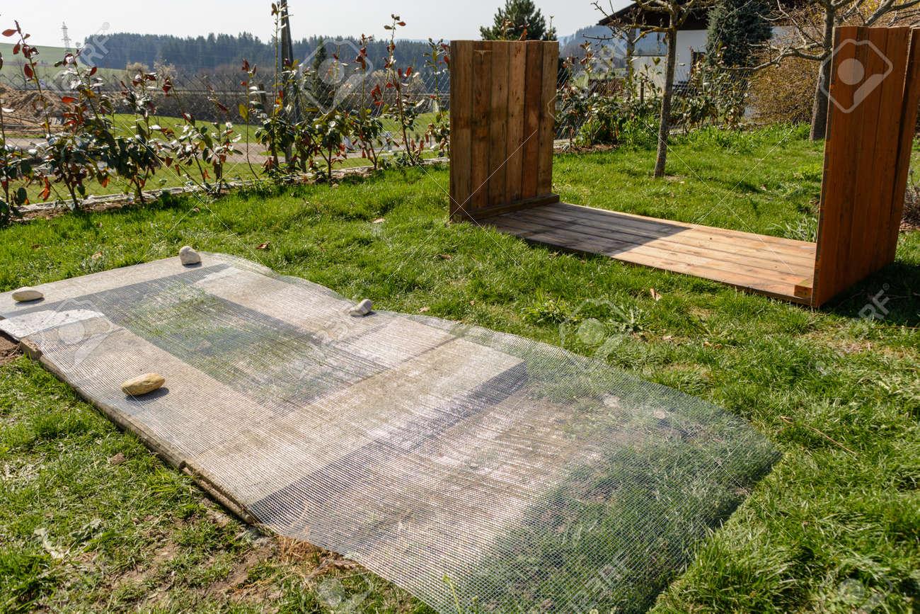 Hochbeet Bauanleitung Unterbau Mühlengitter Und Holzhochbett