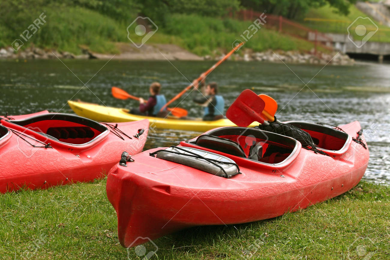People boating on river, peacefull nature scene Stock Photo - 13179505