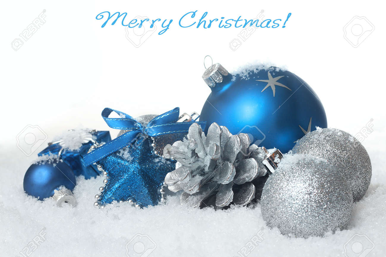 Blue Christmas Balls Stock Photo, Picture And Royalty Free Image ...