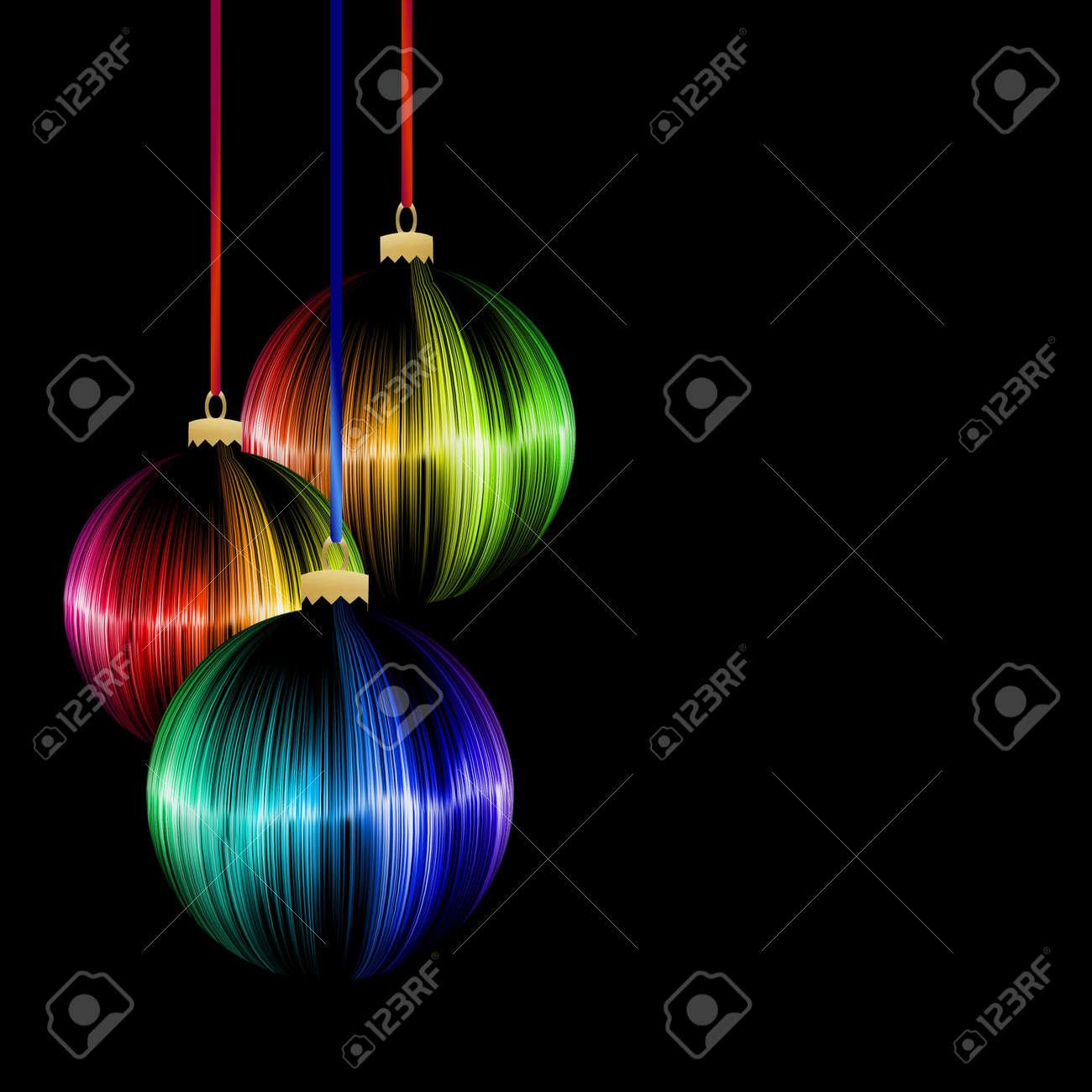 rainbow Christmas ball on dark background Stock Photo - 15947671