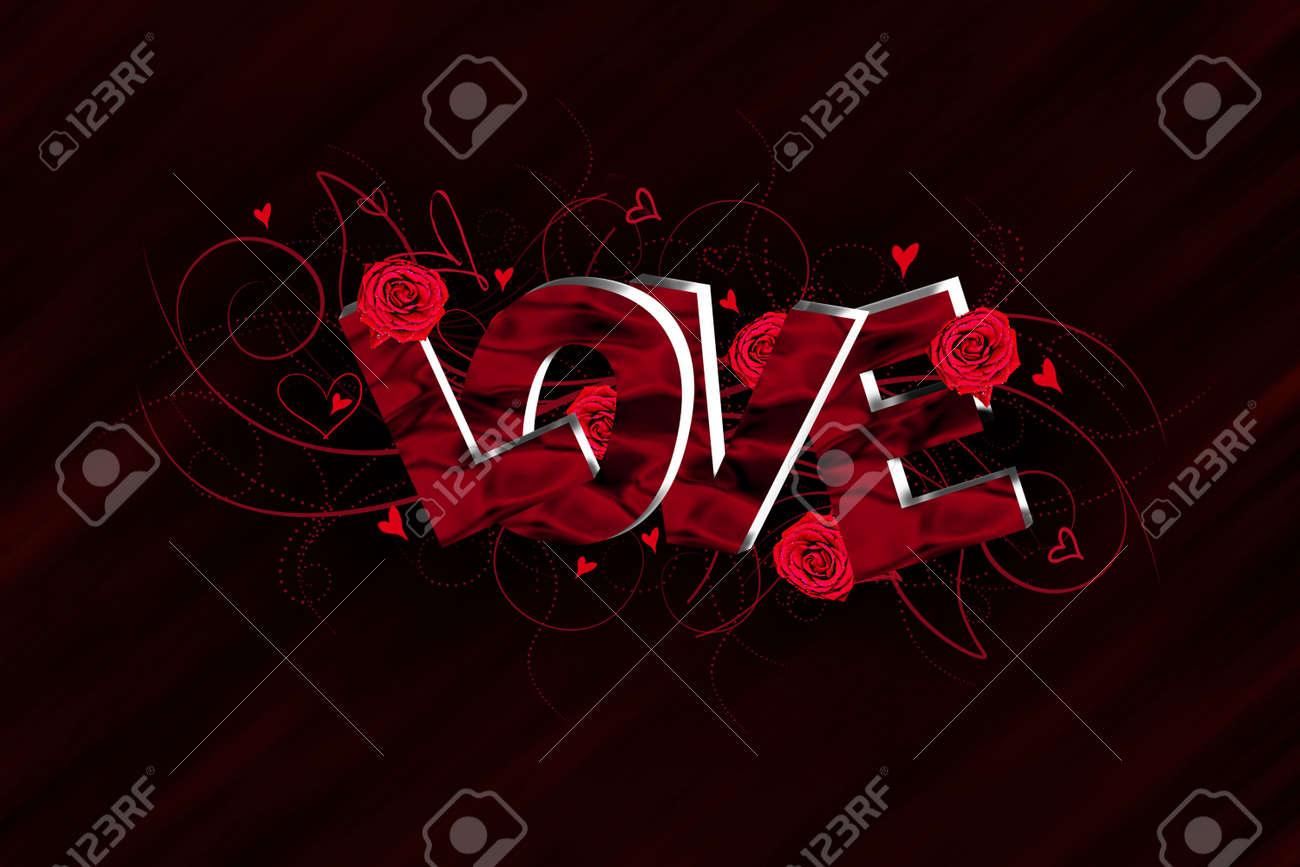 3D Love text composition Stock Photo - 16816565