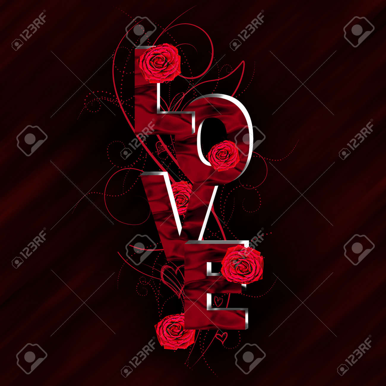 3D Love text composition Stock Photo - 16816566