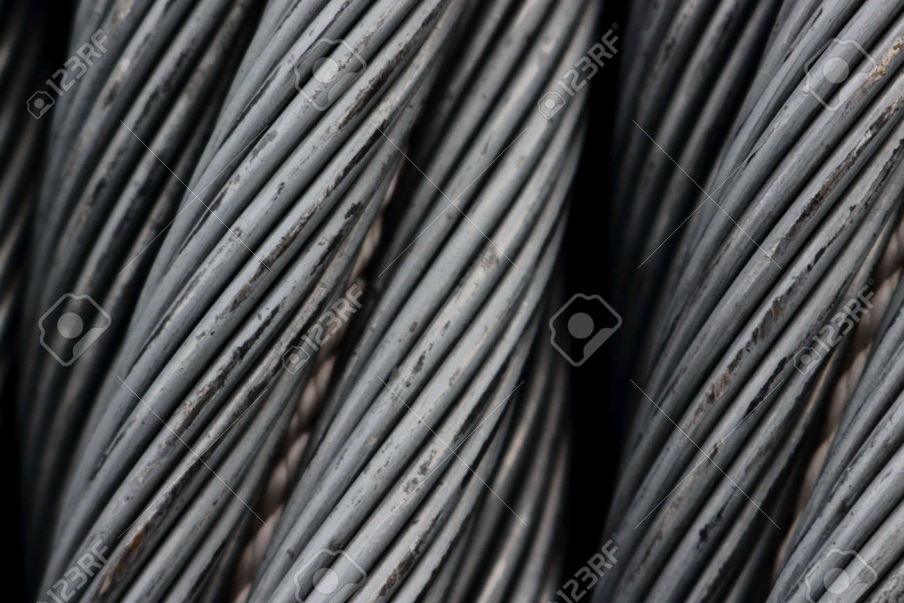 Steel Wire Rope Cable Close Up. Stock Photo, Picture And Royalty ...