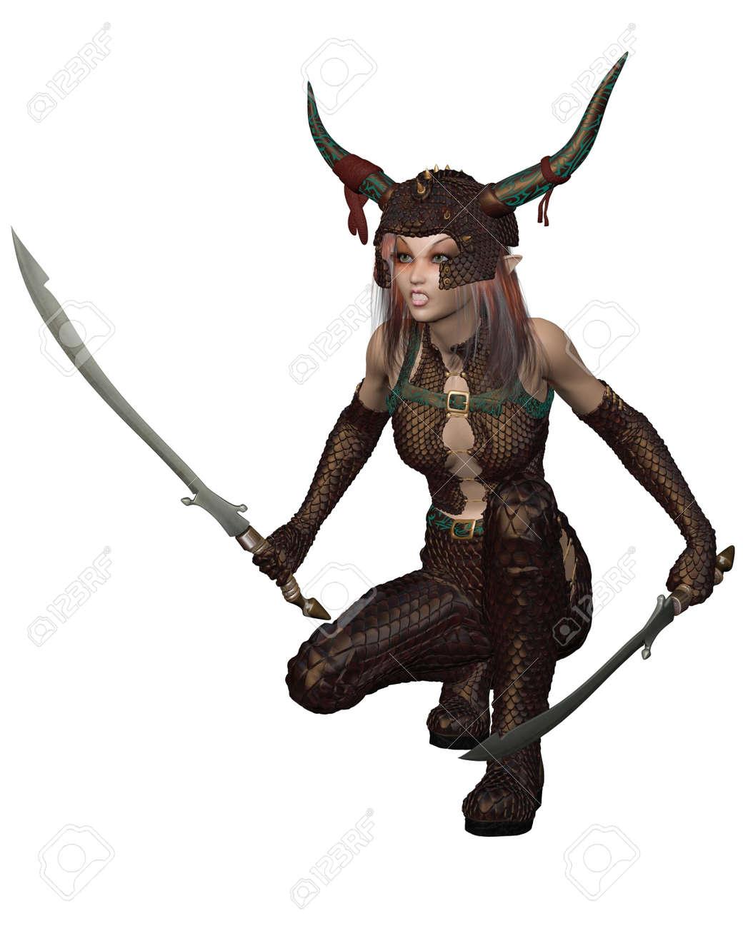 3d warrior girl down anime tube