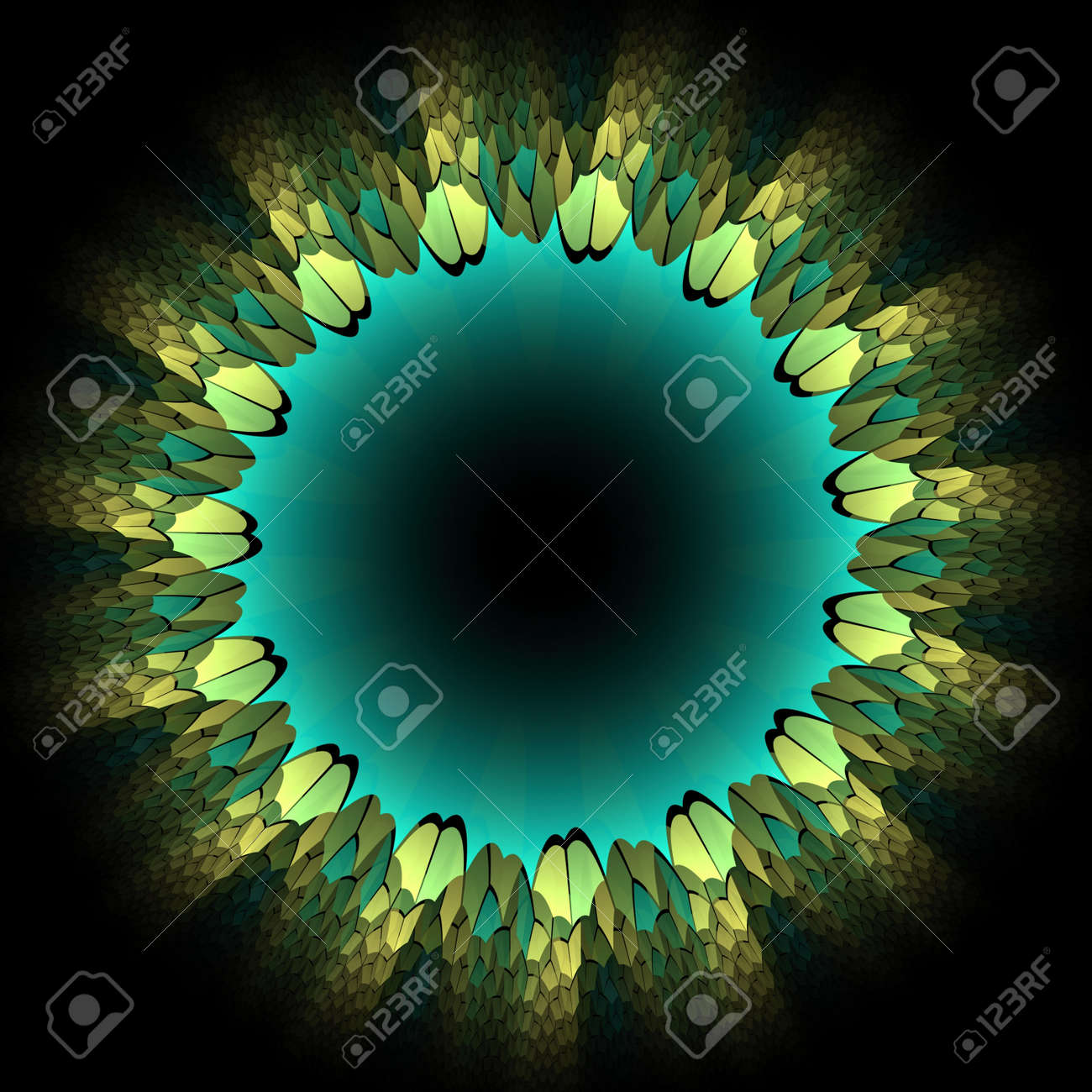 Flower petals abstract flame fractal design border or frame Stock Photo - 13848844