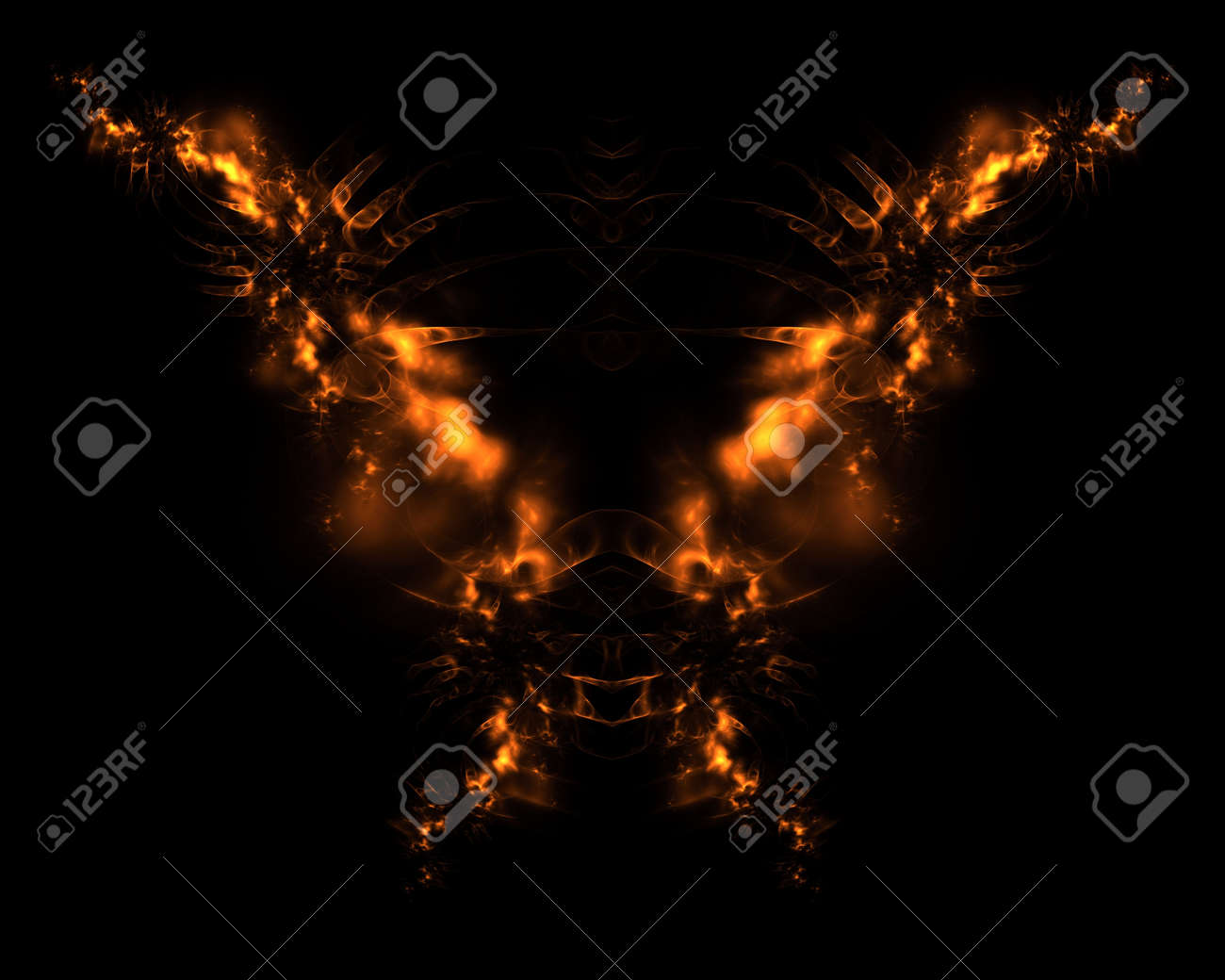 火の悪魔抽象的なフラクタル デザインの背景や壁紙を の写真素材 画像