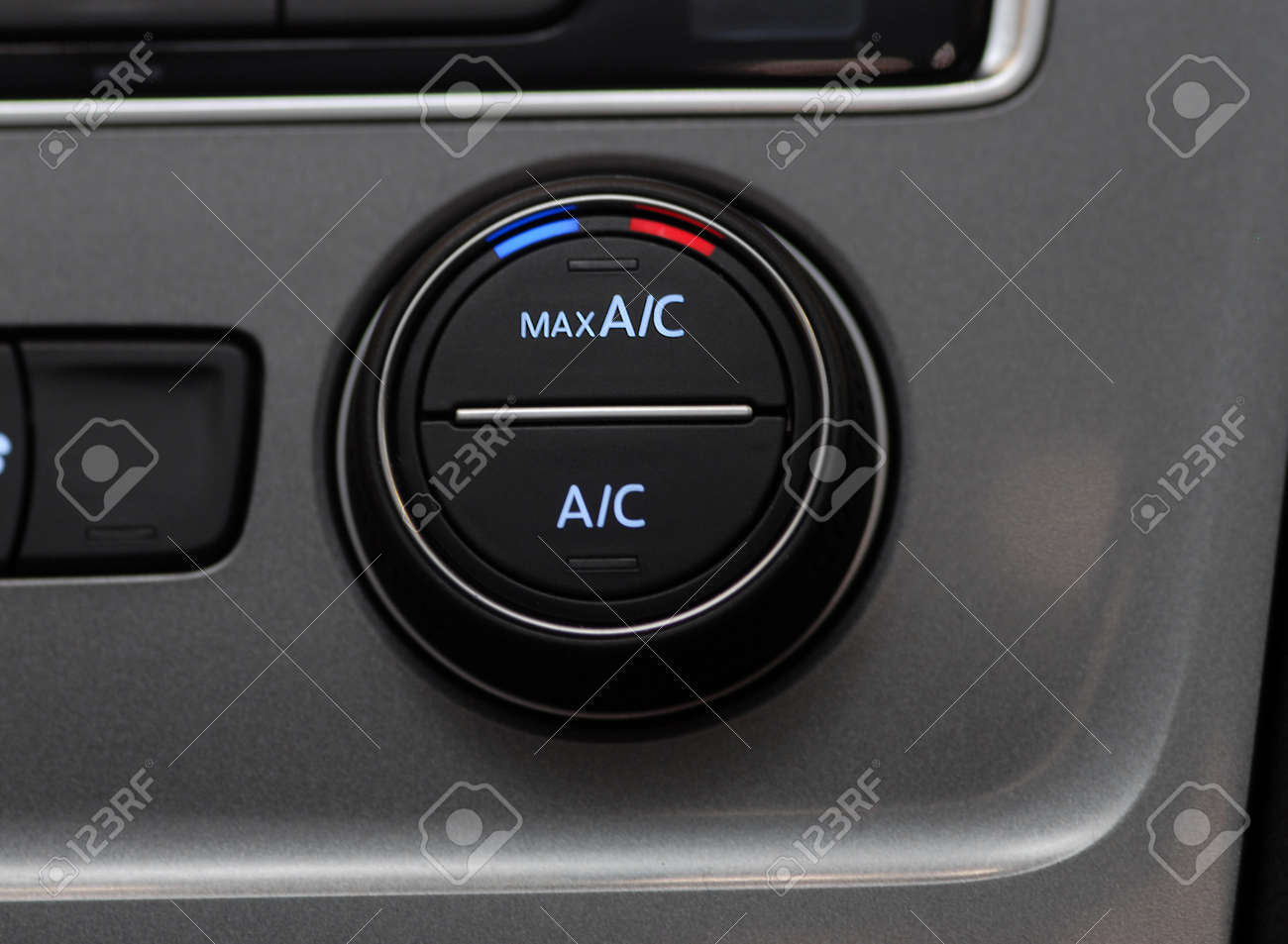 Car Air Conditioner, Manual switch board in the car Stock Photo - 33821944
