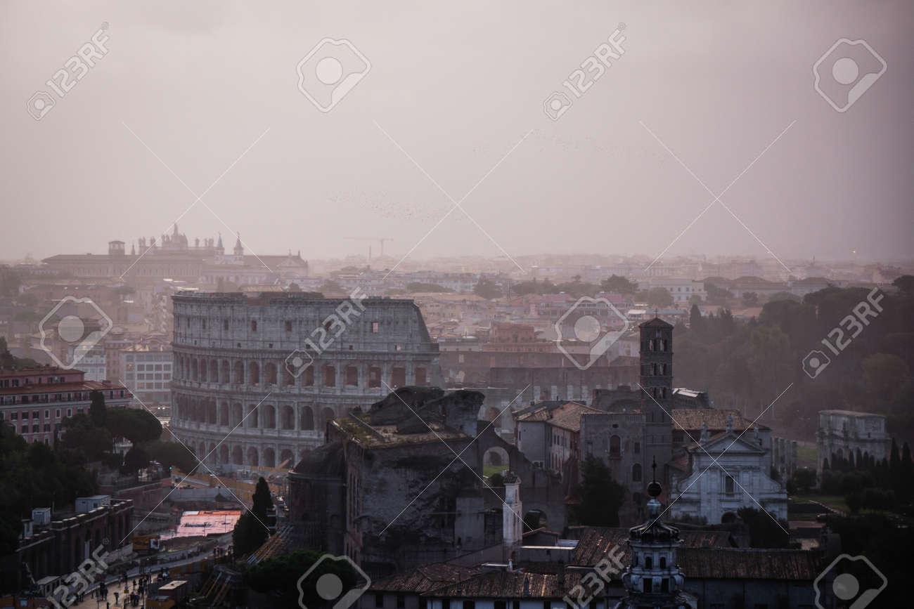 Italy Terrazza Delle Quadrighe History City Rome Empire