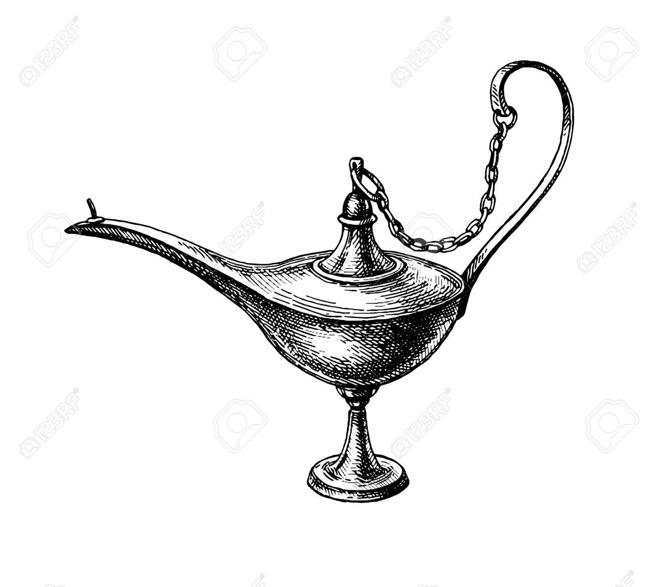 Oriental oil lamp. - 171322872