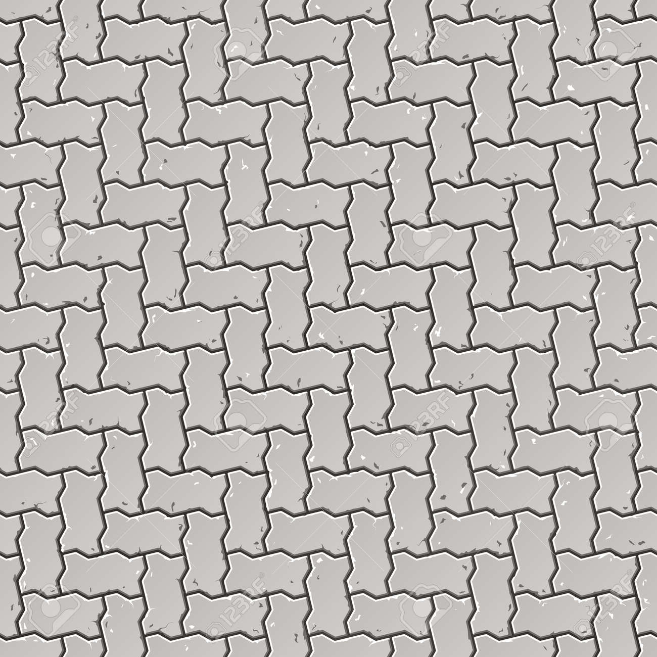 Seamless sidewalk pattern Stock Vector - 9882058
