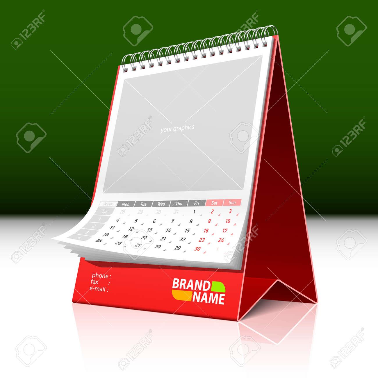 Desktop calendar Stock Vector - 9882116