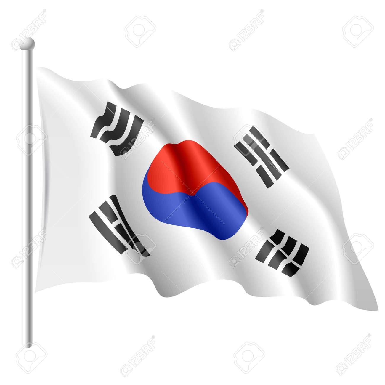 flag of south korea royalty free cliparts vectors and stock rh 123rf com korea flag vector download korean flag vector free download