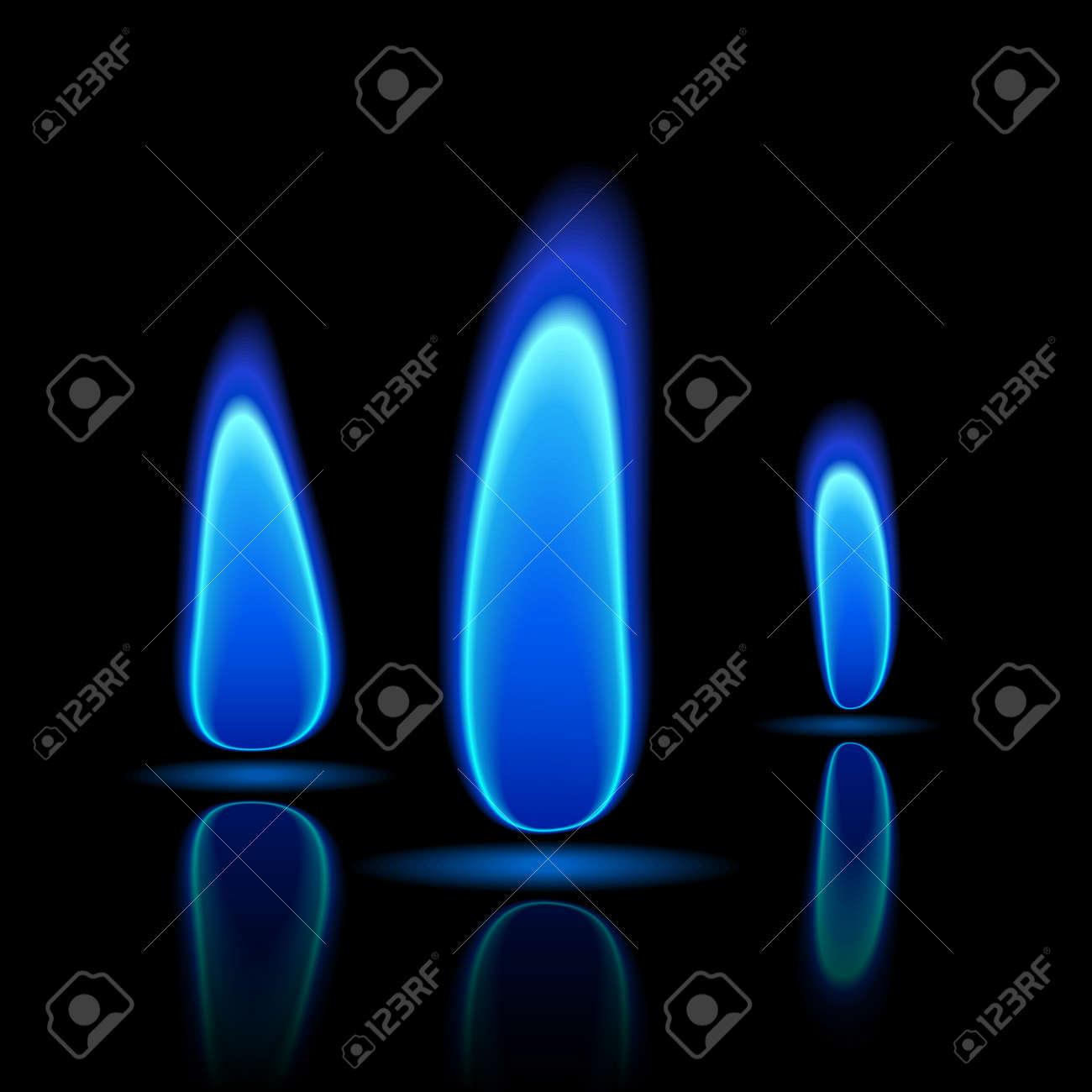 Gas flame Stock Vector - 9882175