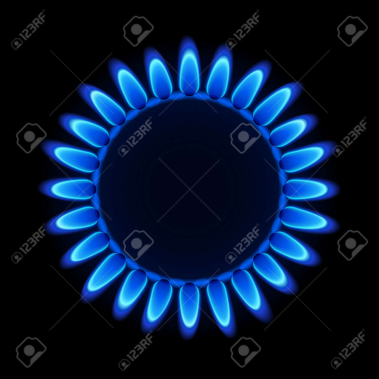 Gas flame on a hob Stock Vector - 9882181