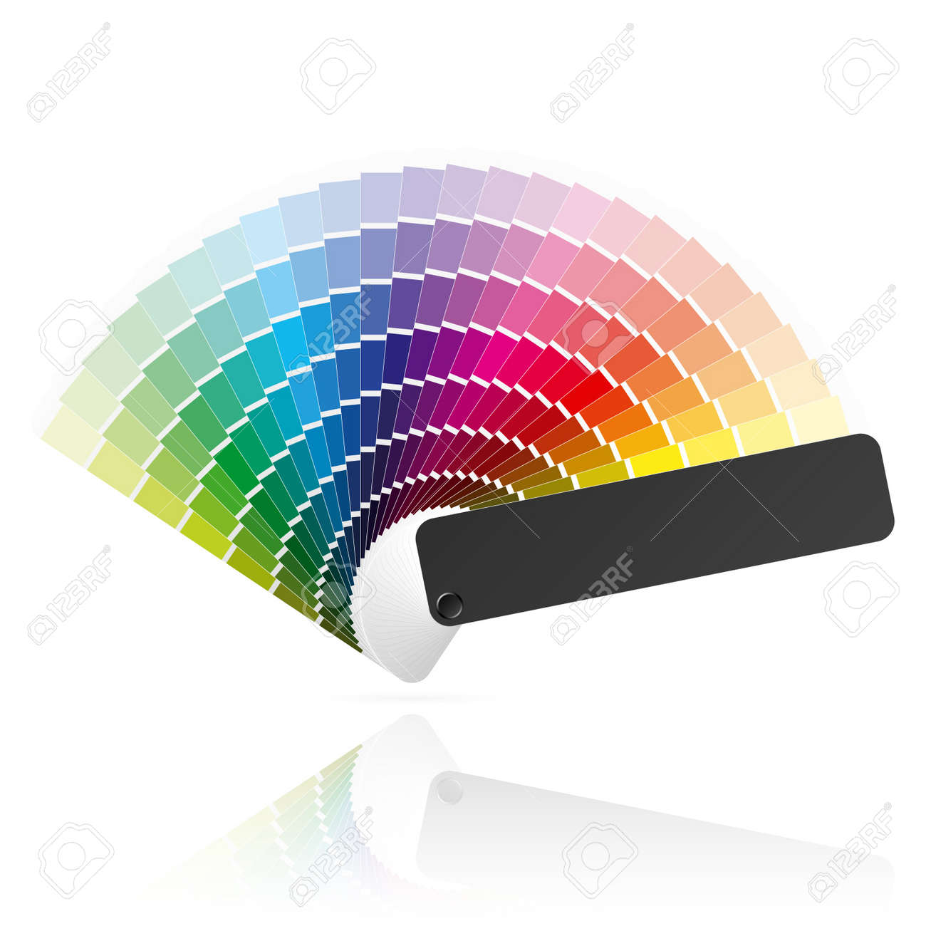 Coloring book with guide - Color Book Guide Color Fan Stock Vector 9882364