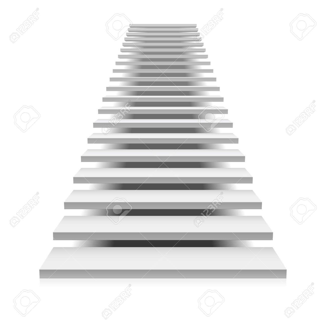 White staircase Stock Vector - 9882285