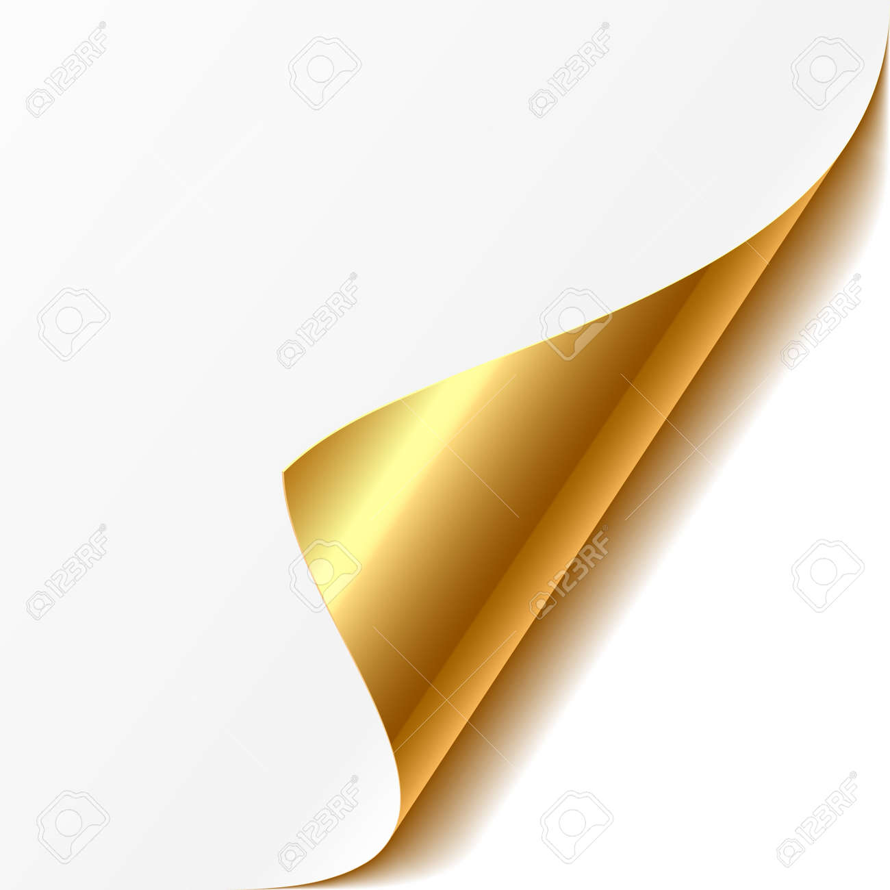 Curled corner Stock Vector - 9882216