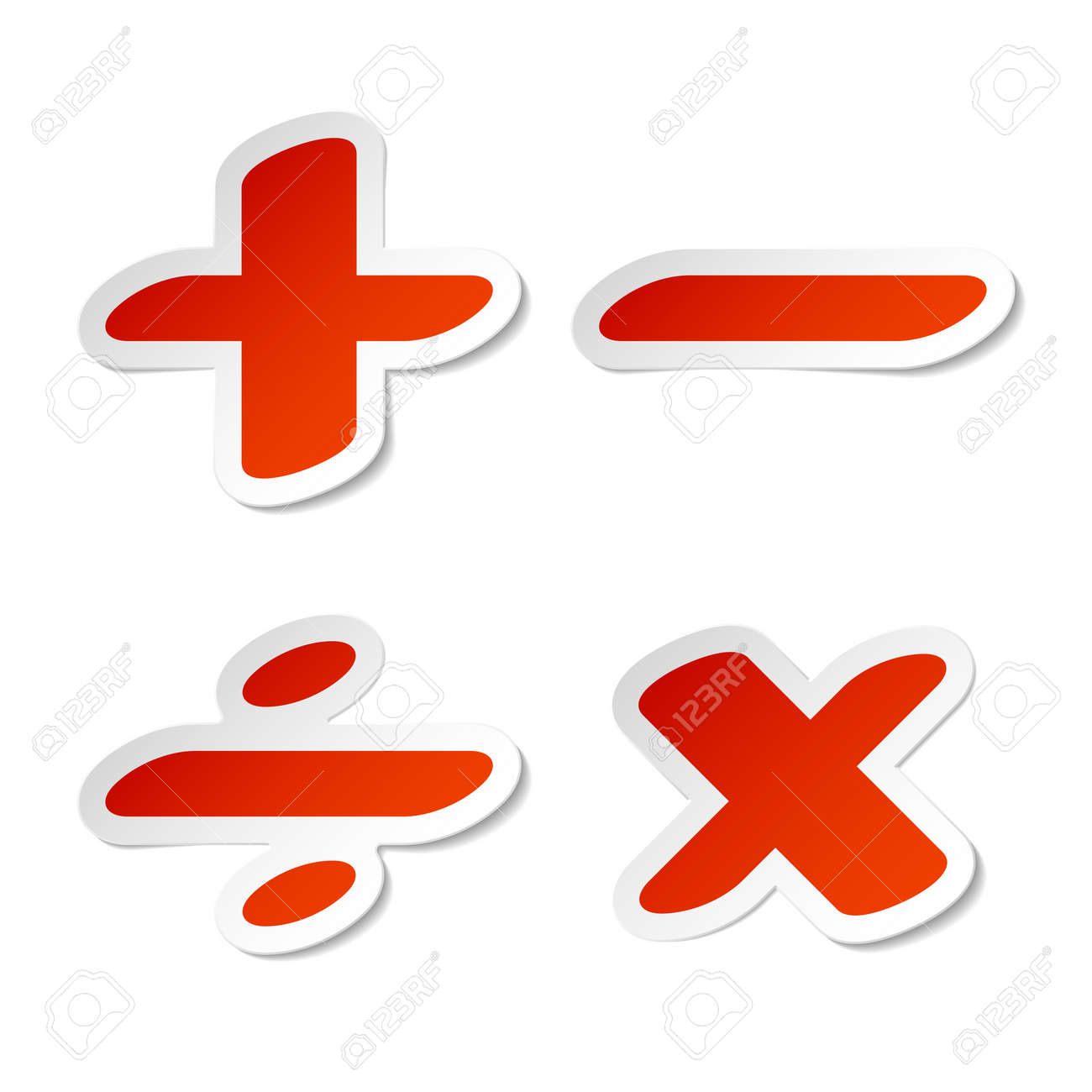 Math symbols stickers royalty free cliparts vectors and stock math symbols stickers stock vector 11346114 biocorpaavc Image collections