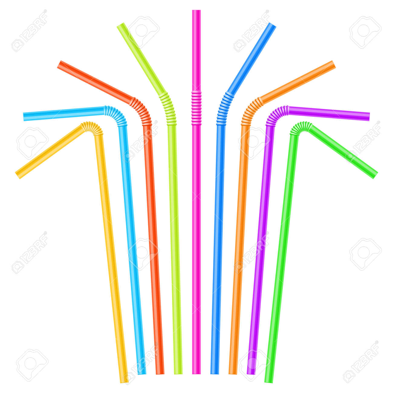 Colorful drinking straws Stock Vector - 12345628