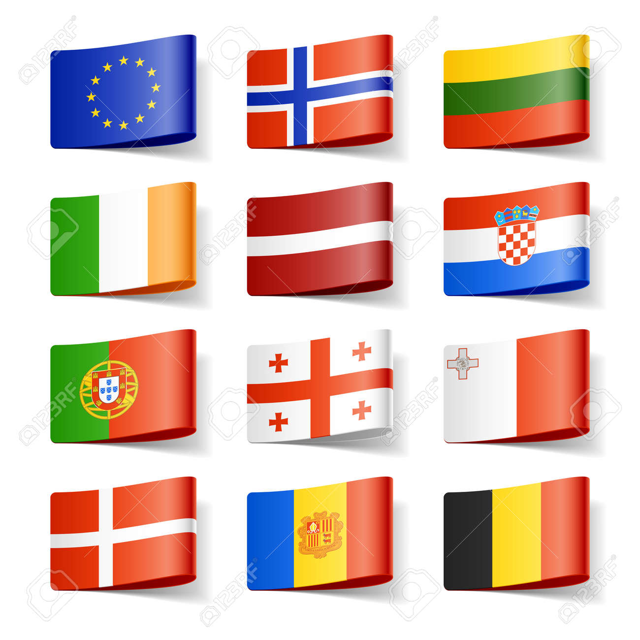 World flags Europe - 12595529