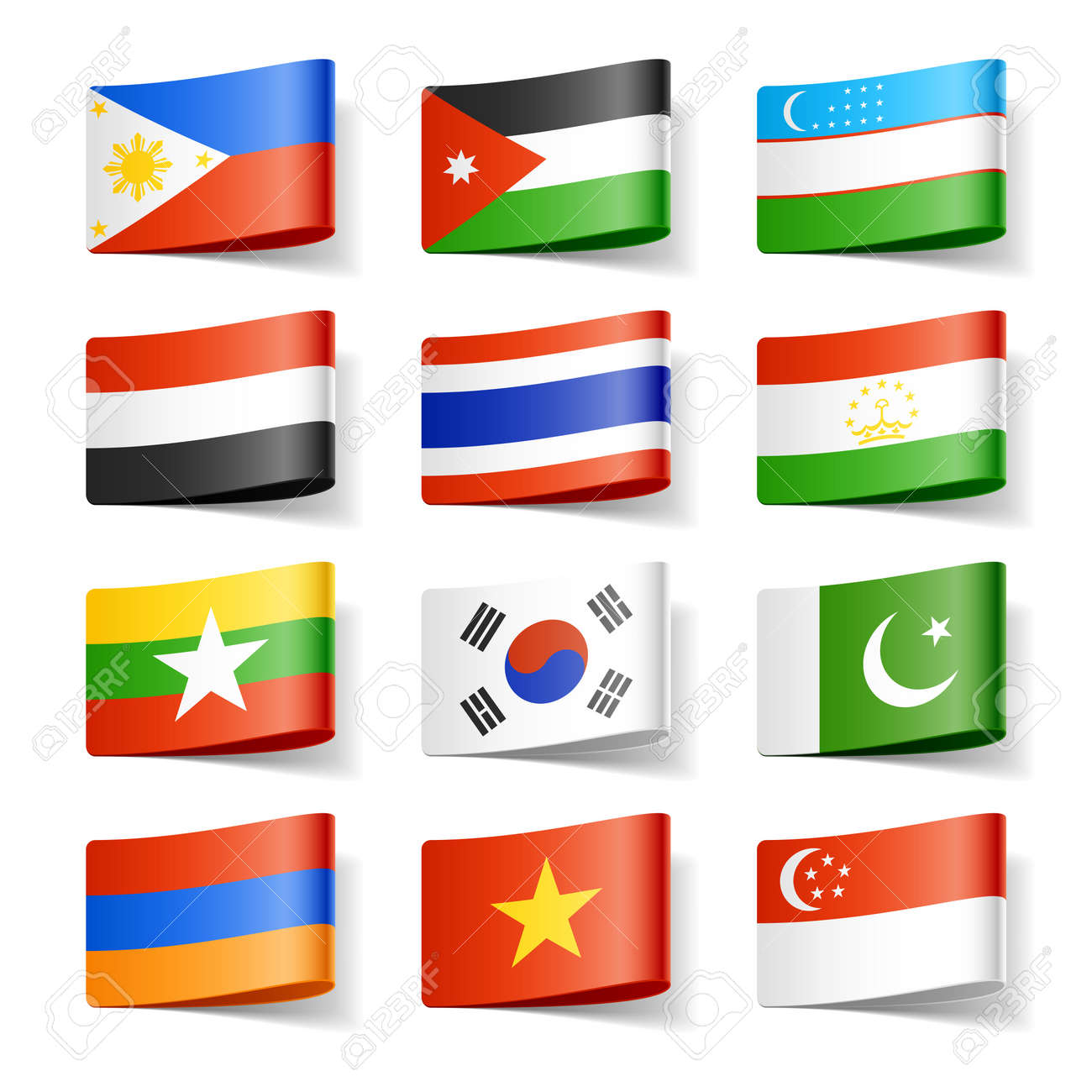 world flags asia stock photo picture and royalty free image