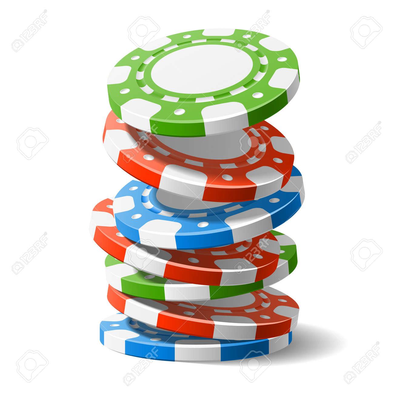 Falling casino chips - 12956010