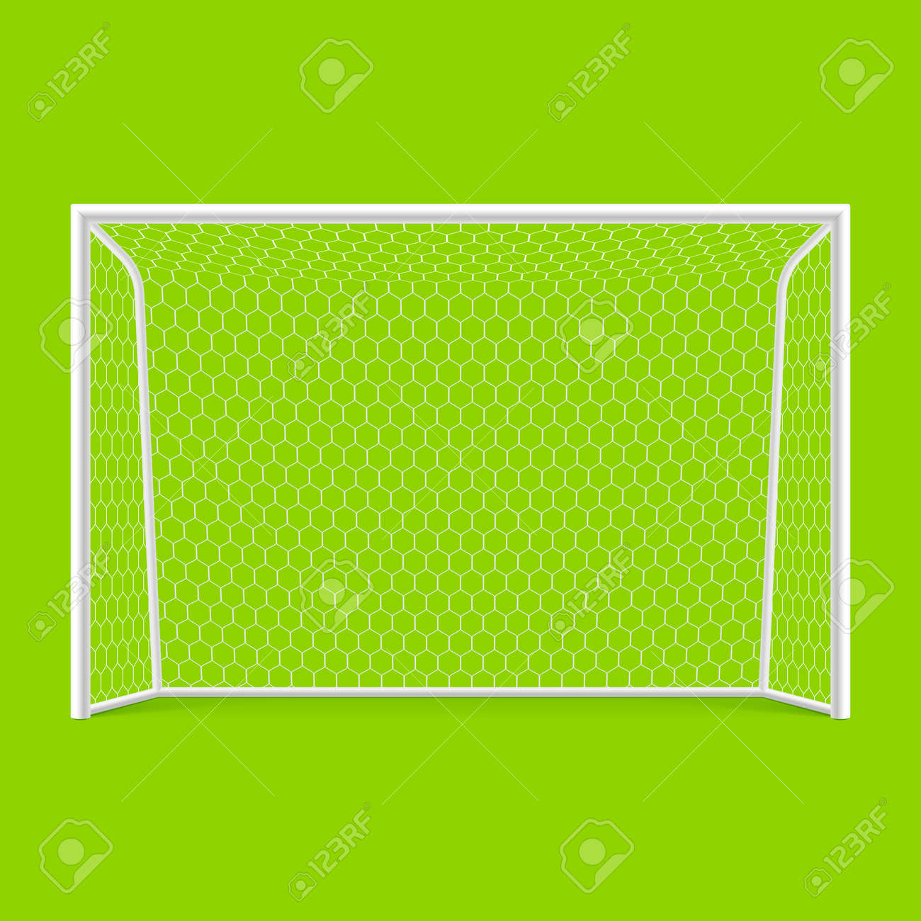 Soccer goal front view Stock Vector - 13488125