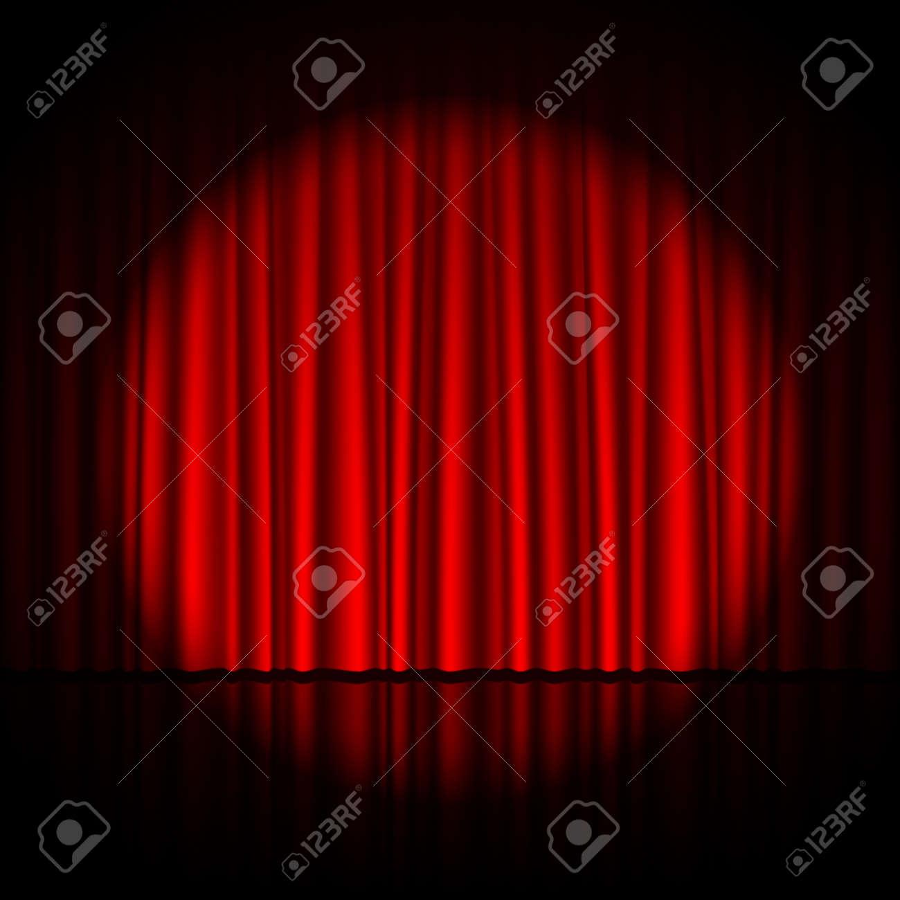Spotlight on stage Stock Vector - 15228439