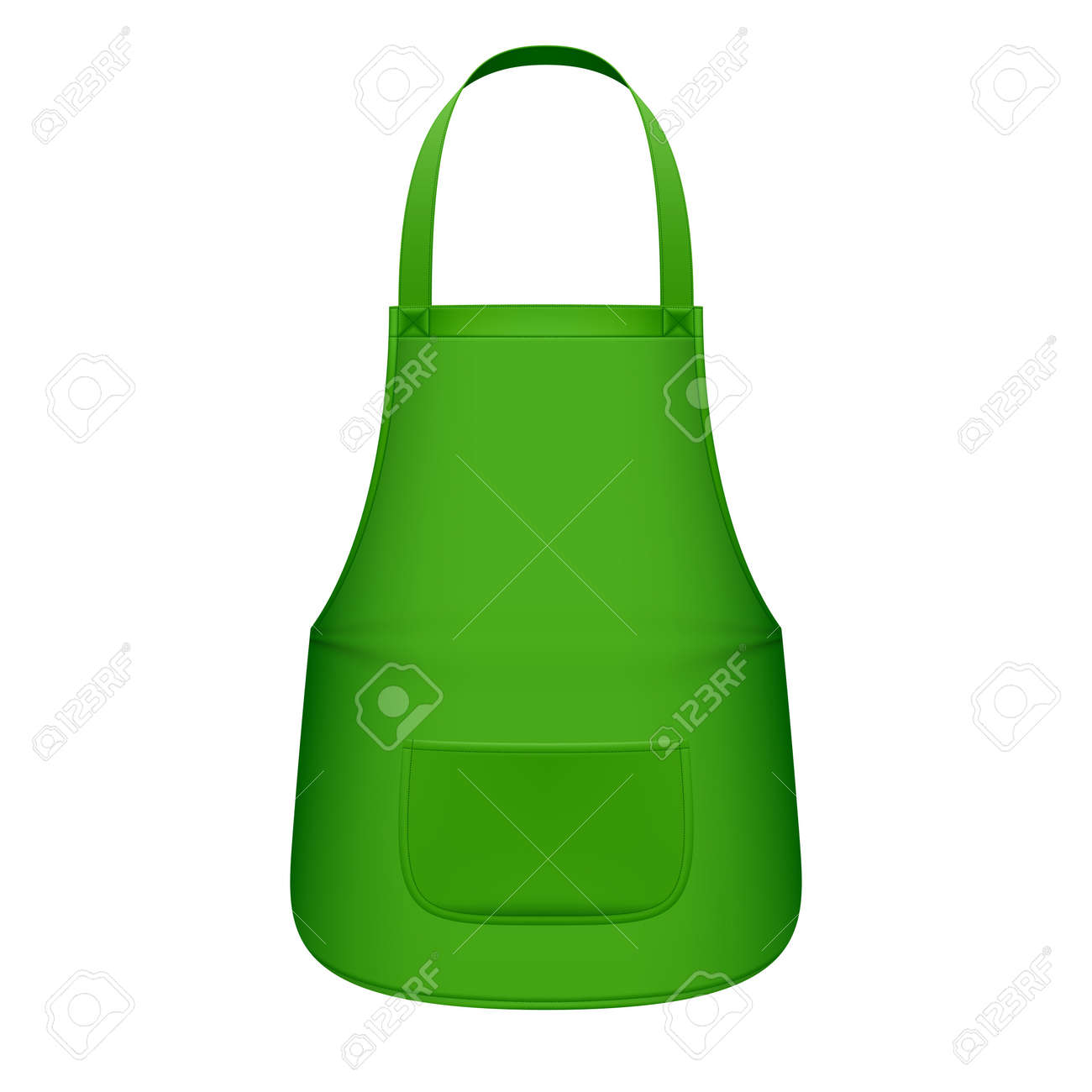 Green kitchen apron Stock Vector - 16962561