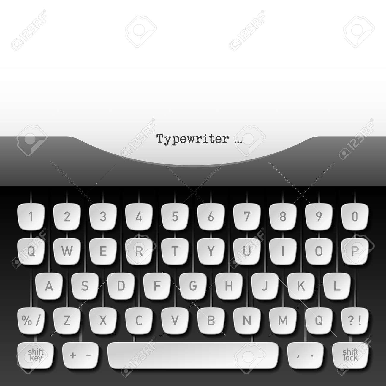 Typewriter Stock Vector - 17455286