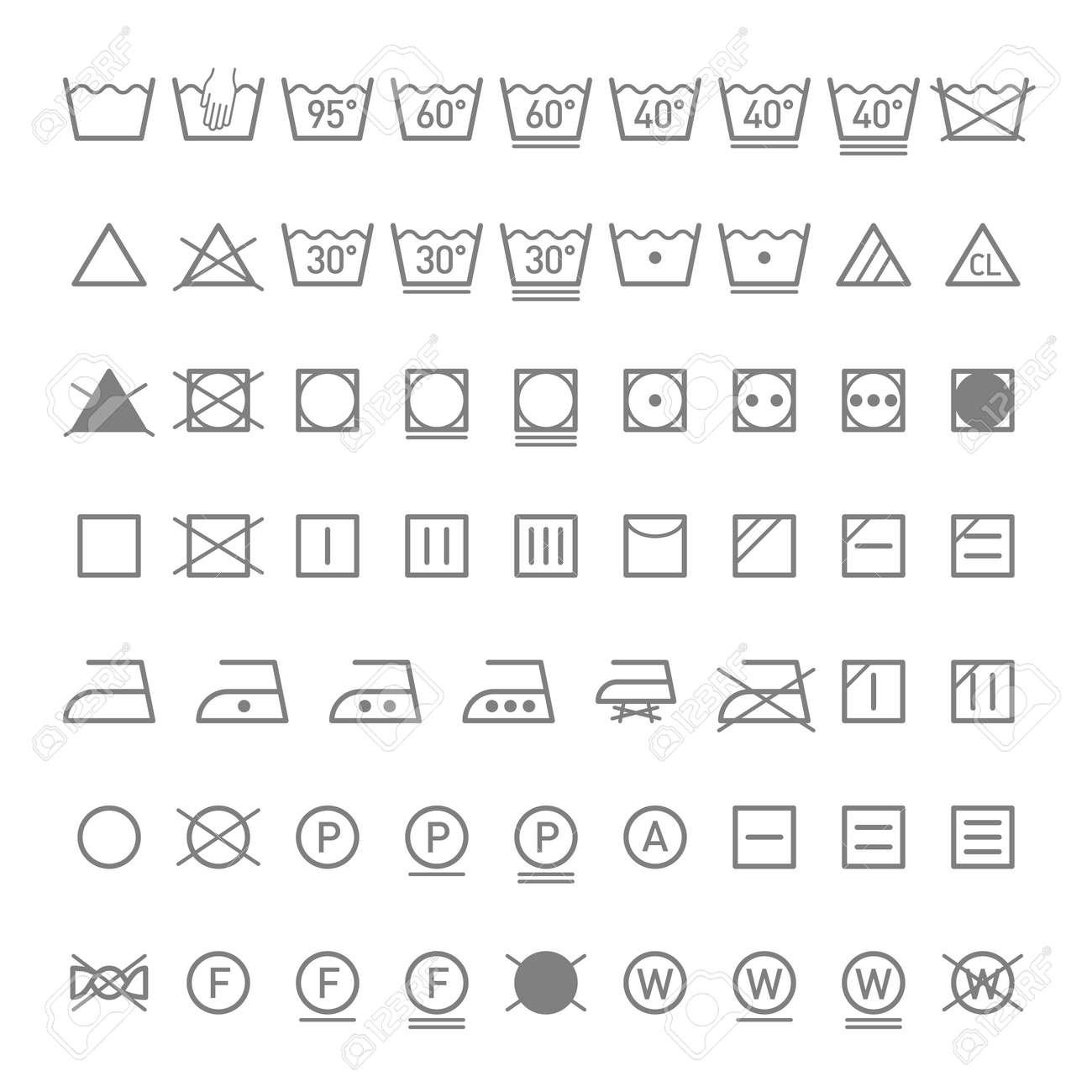 Laundry symbols royalty free cliparts vectors and stock laundry symbols stock vector 17494516 buycottarizona