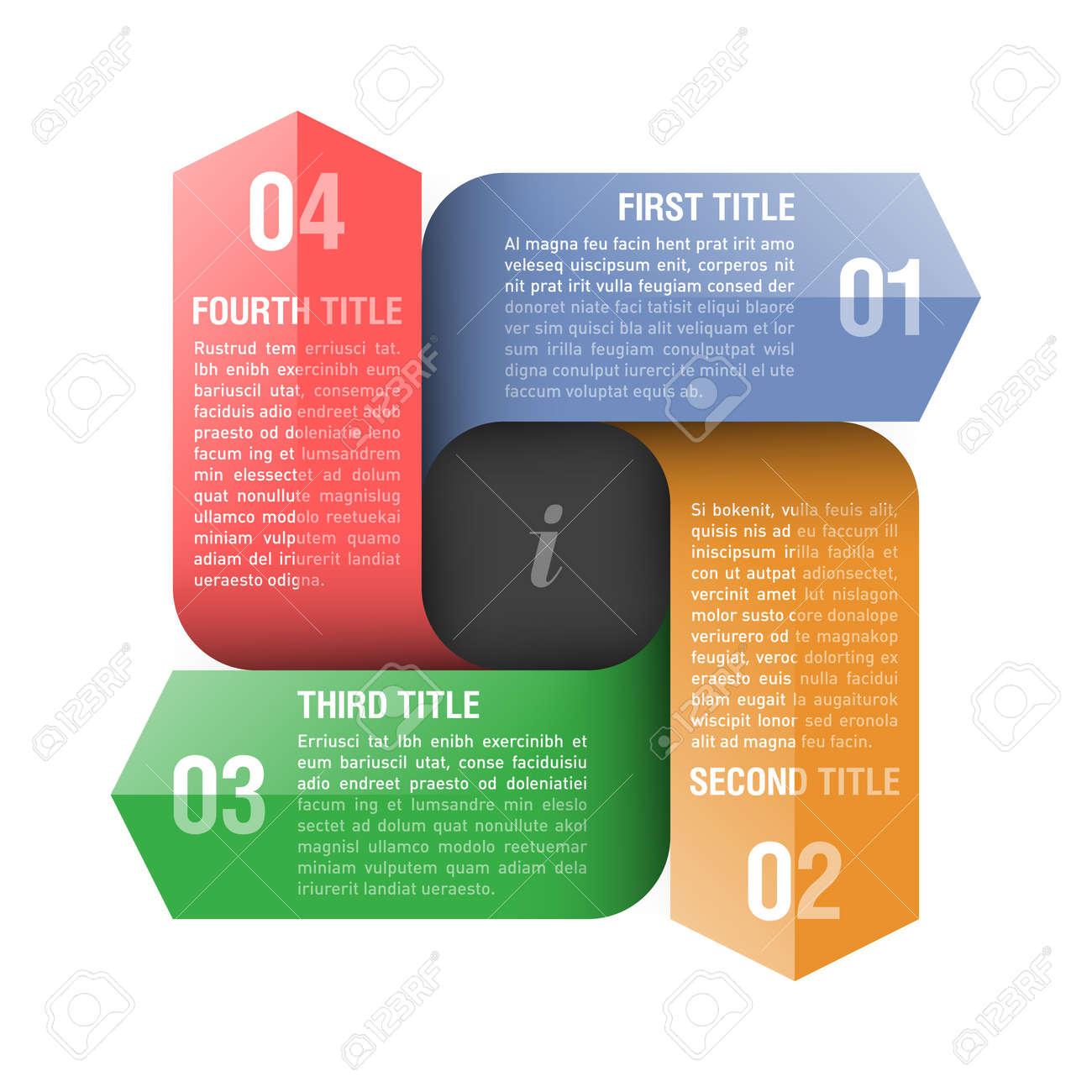 Four directions arrows design template Stock Vector - 18653286