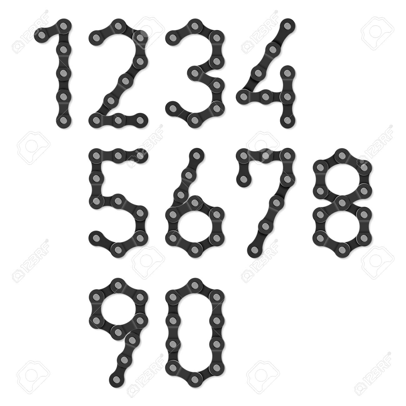 Bicycle chain numbers Stock Vector - 20183758