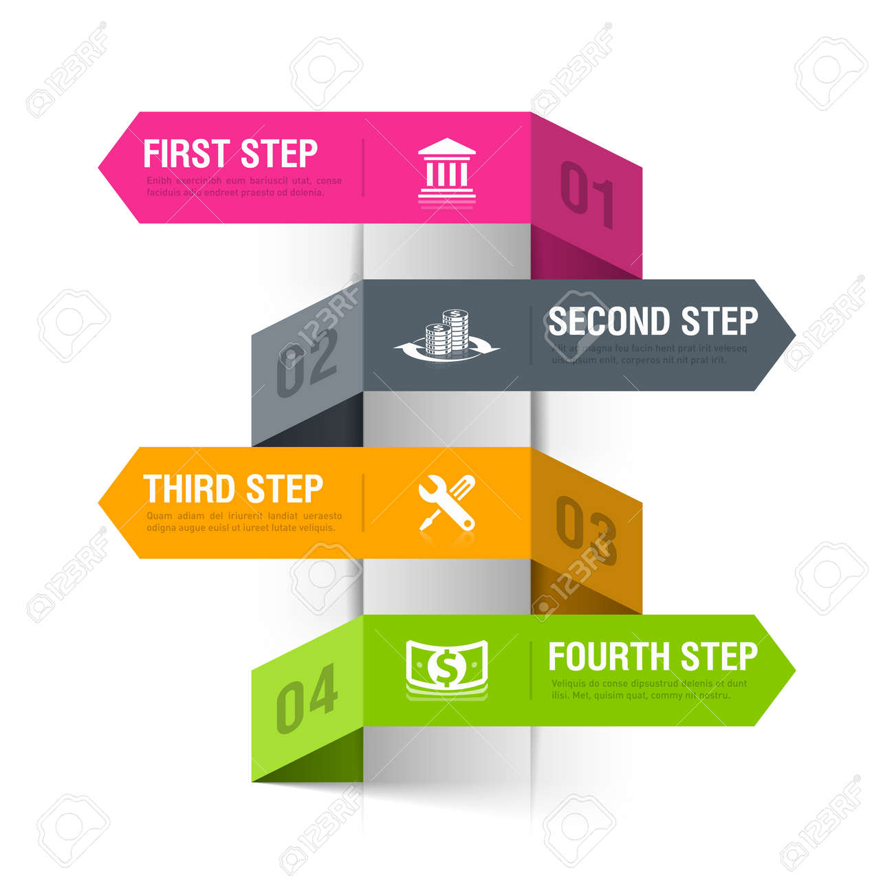 Bank Theme Abstract Infographics Template Royalty Free Cliparts ...