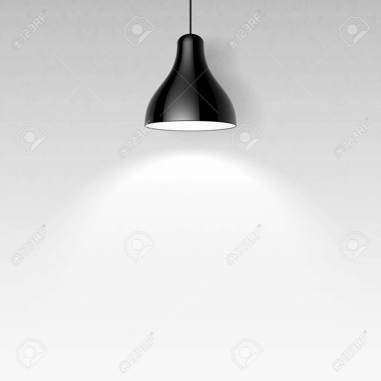Black ceiling lamp - 22397154