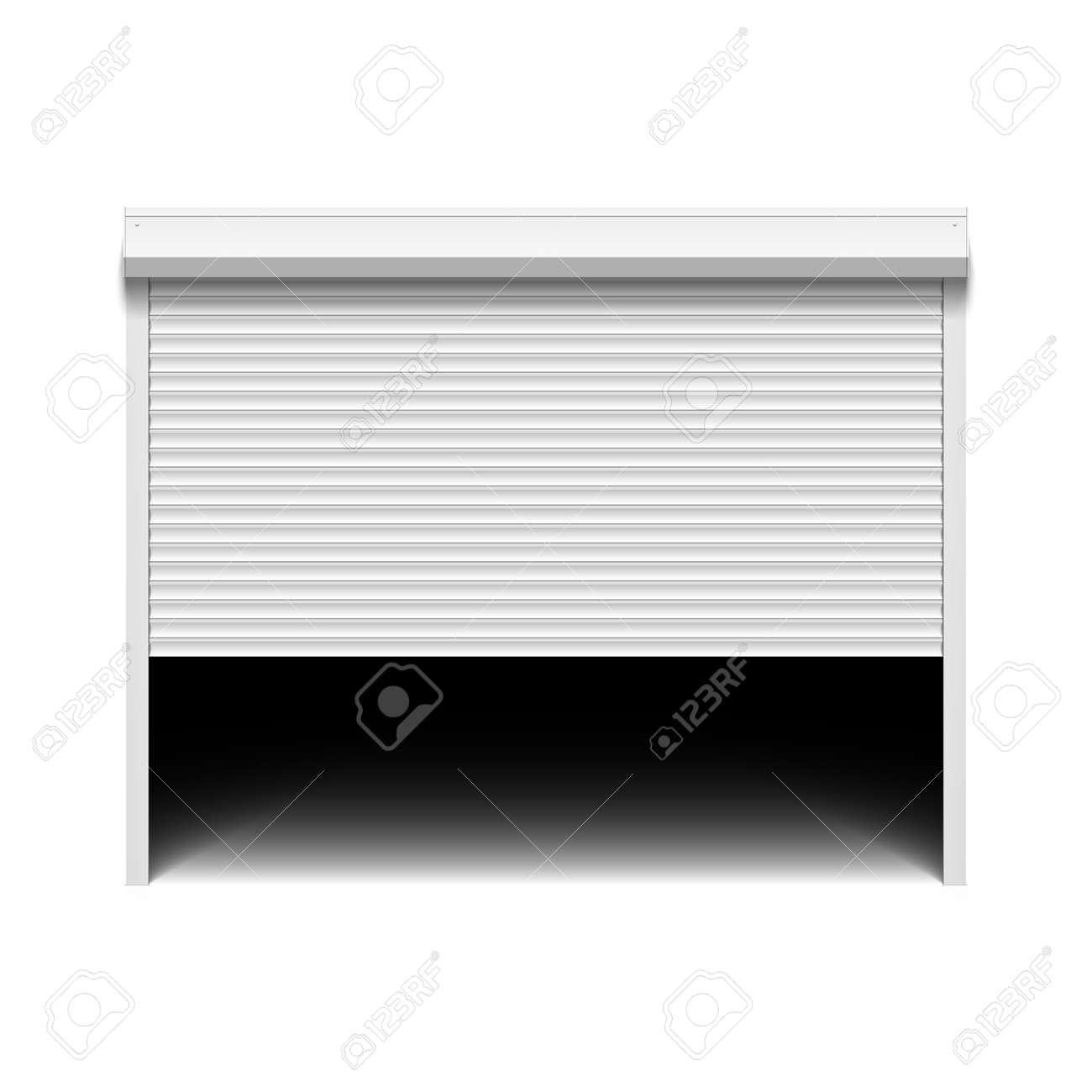 Garage doors clipart - Roller Shutter Garage Door Stock Vector 23123961