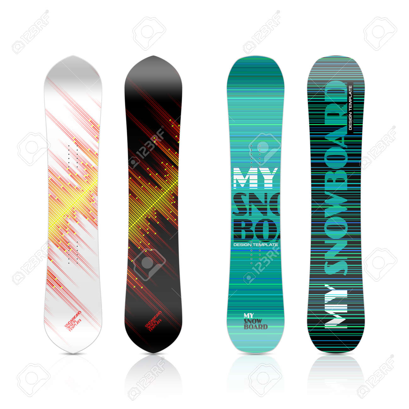 Snowboard Design Royalty Free Cliparts Vectors And Stock