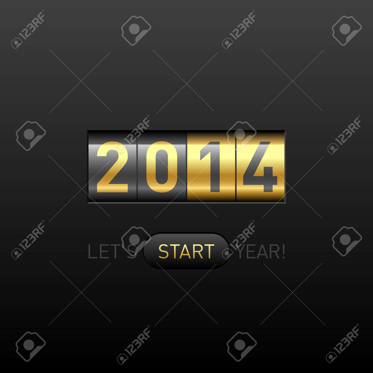 Happy New Year 2014 card Stock Vector - 23796308