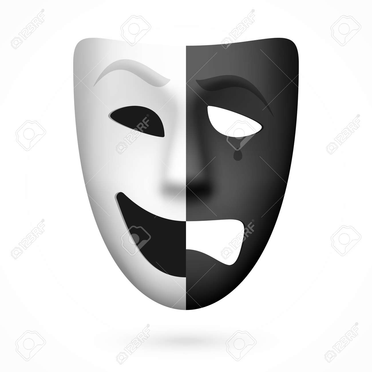 Comedy And Tragedy Theatrical Mask Royalty Free Cliparts, Vectors ...
