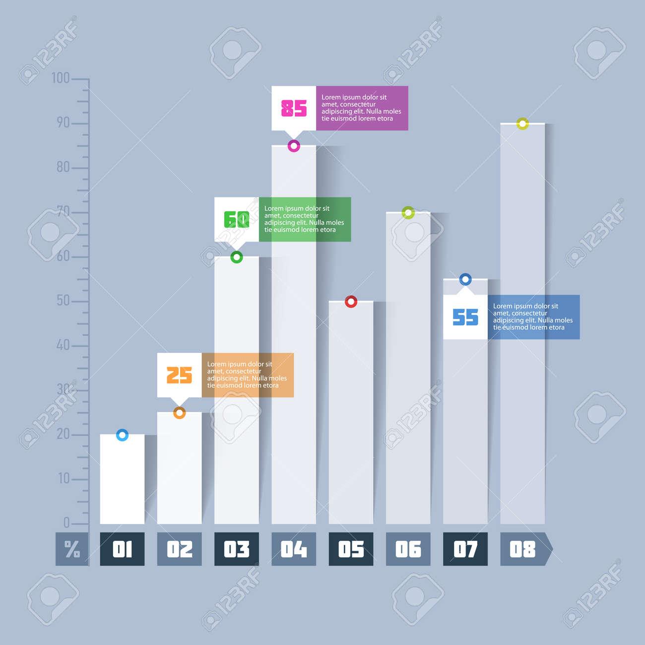 bar chart, graph infographics element royalty free cliparts, vectors