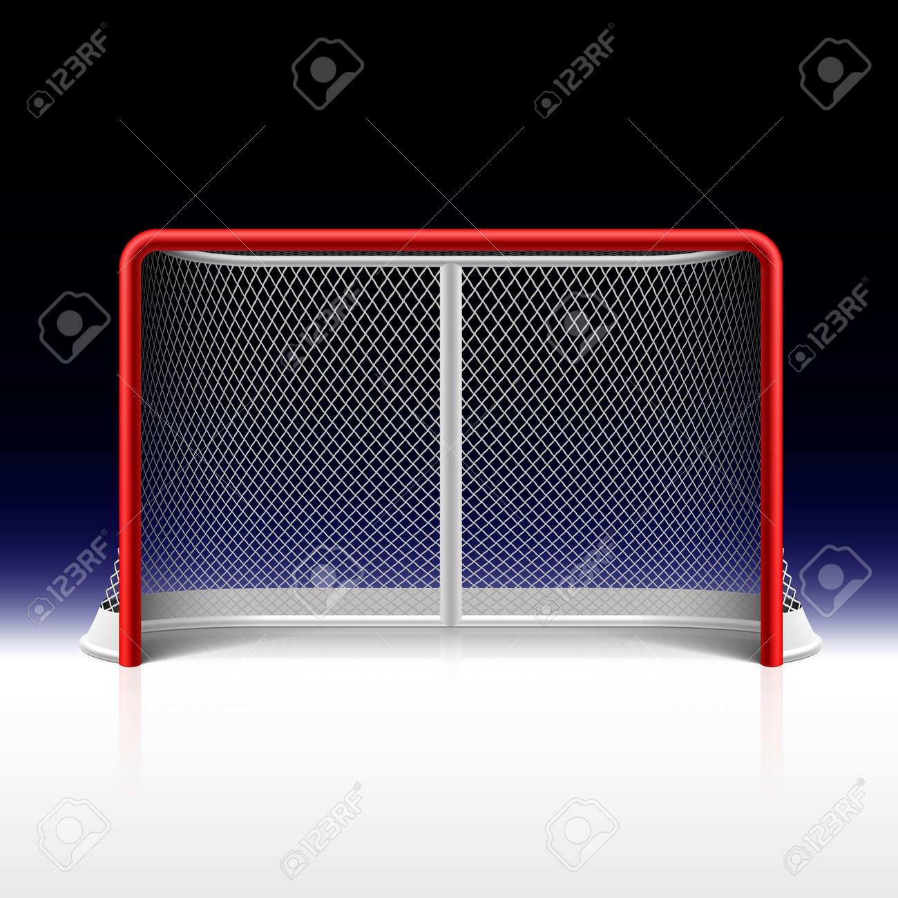 Ice hockey net, goal on black Stock Vector - 26262474