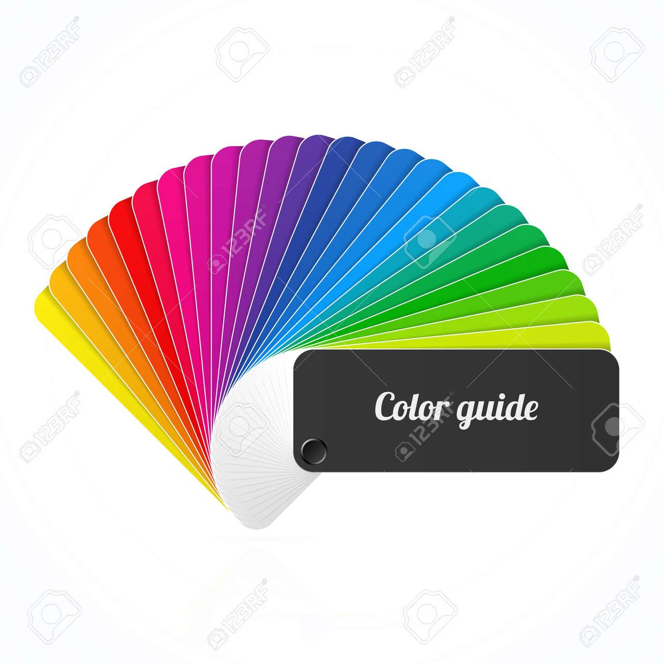 color swatch book color palette guide fan catalogue illustration - Color Swatch Book