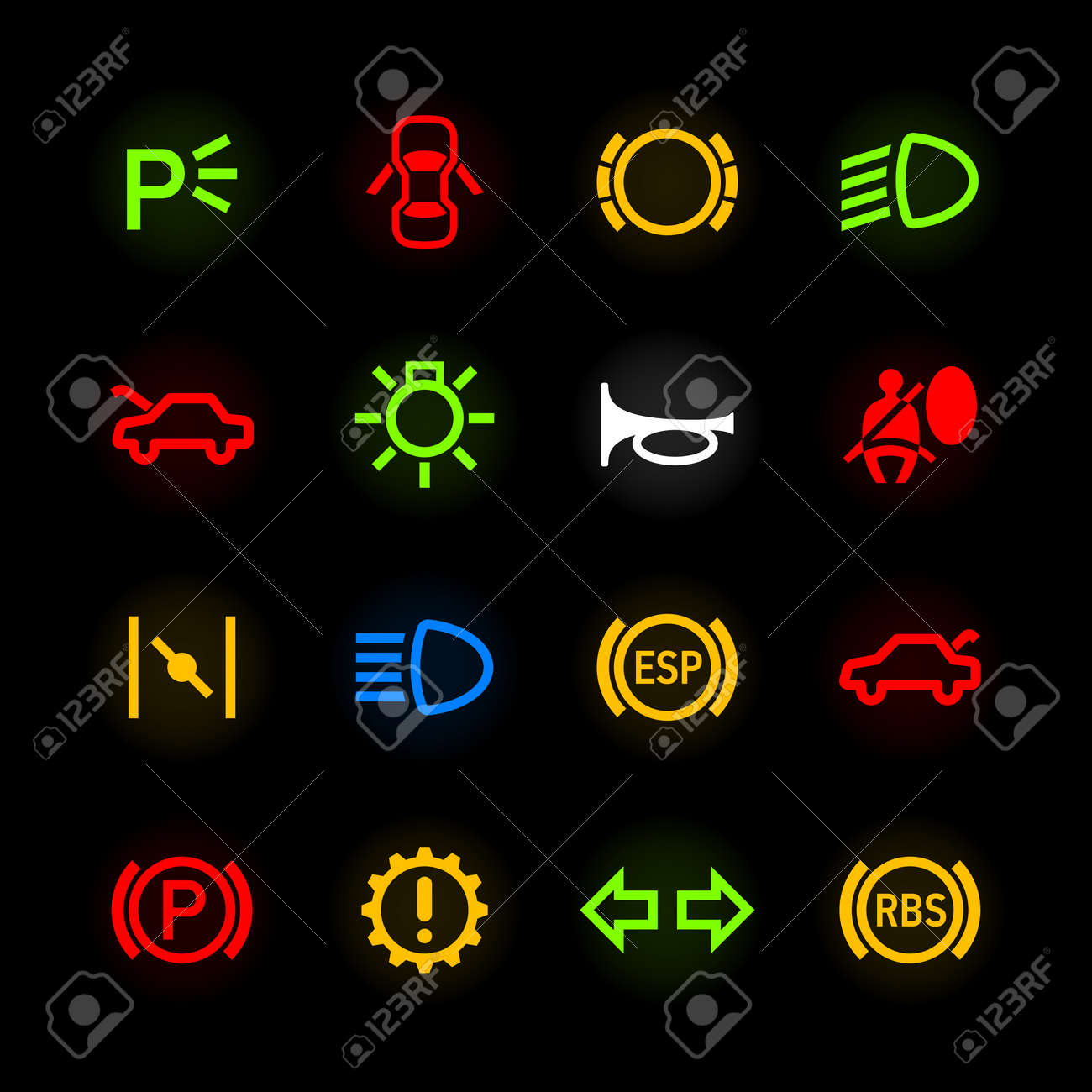 Car Horn Stock Photos Royalty Free Car Horn Images And Pictures - Car image sign of dashboard