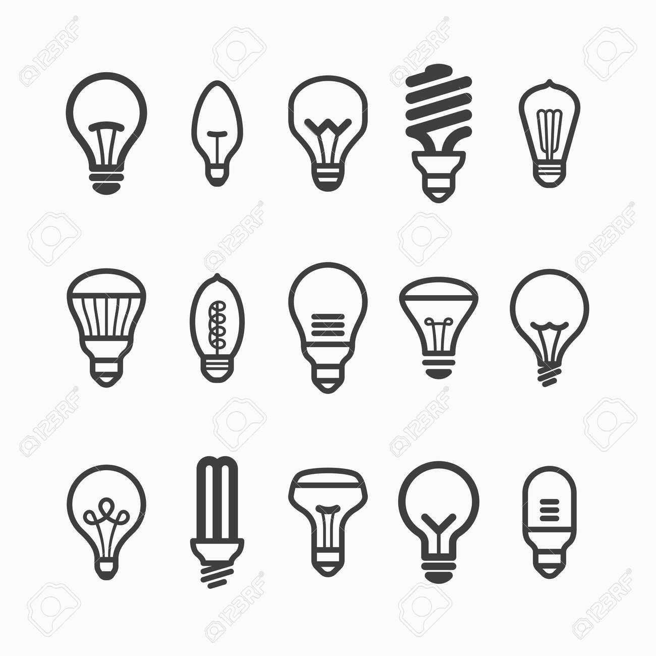 Light bulb icons - 27742128