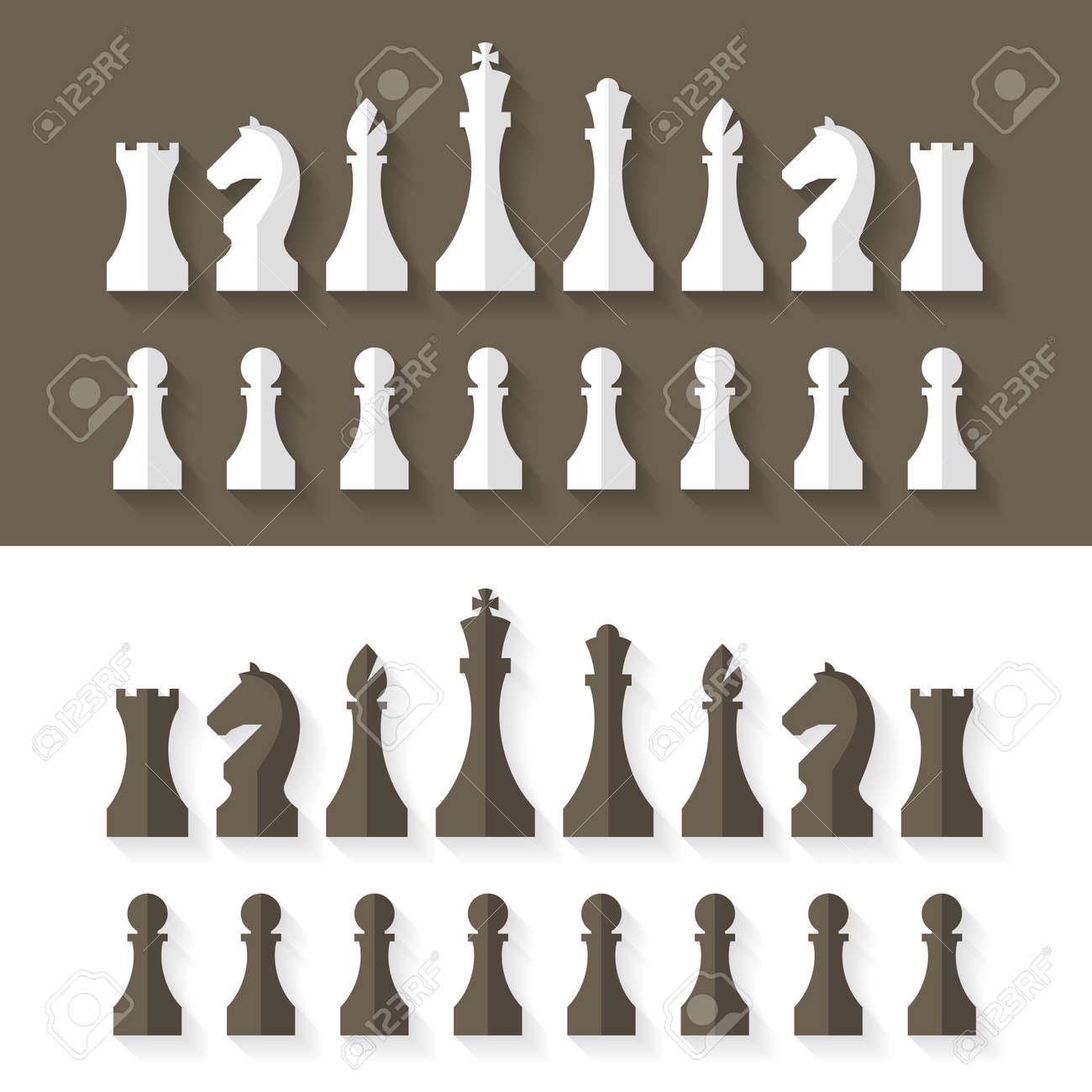 chess pieces flat design style royalty free cliparts vectors and